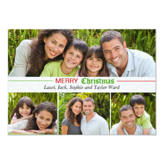 Souvenirs heureux - carte de vacances de photo carton d'invitation  12,7 cm x 17,78 cm