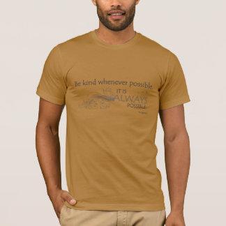 SOYEZ 001a AIMABLE (CITATION de DALAI LAMA - T-shirt