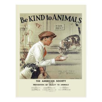 Soyez aimable avec la carte postale vintage #2 des