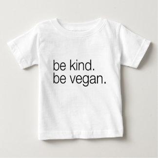 soyez aimable soit pièce en t végétalienne de bébé t-shirt pour bébé