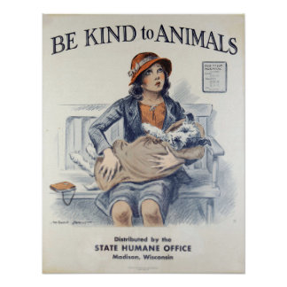 Soyez Animal-Chien aimable Poster