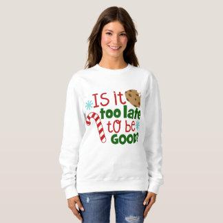 Soyez bon sweatshirt d'art de mot de Noël