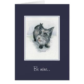 Soyez cairn Terrier de Valentine de mine Carte De Vœux