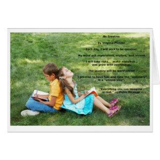 """""""Soyez"""" carte de note créative d'affirmation (le"""
