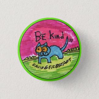 Soyez chat bleu aimable avec le ciel rose pin's