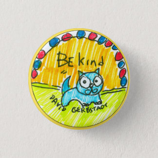 Soyez chat bleu aimable badges