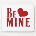 Soyez coeur de jour de Valentines de mine Tapis De Souris