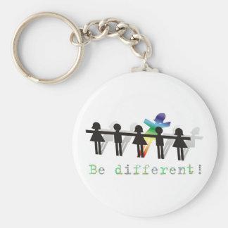Soyez différent ! porte-clé rond