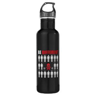 Soyez différent - séance d'entraînement de bouteille d'eau