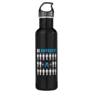 Soyez différent - séance d'entraînement de bouteille d'eau en acier inoxydable
