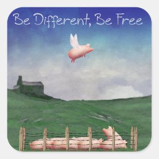 Soyez différent, soyez les autocollants libres