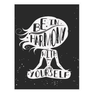 Soyez en harmonie avec vous-même carte postale