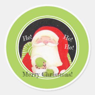 Soyez gai ! Autocollants de Père Noël de Noël