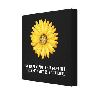 Soyez heureux ce moment - copie d'art de toile