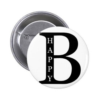 Soyez heureux (sur le noir d'intérieur…) pin's