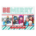 Soyez joyeuse carte de vacances de collage de carton d'invitation