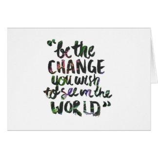 Soyez la carte de changement