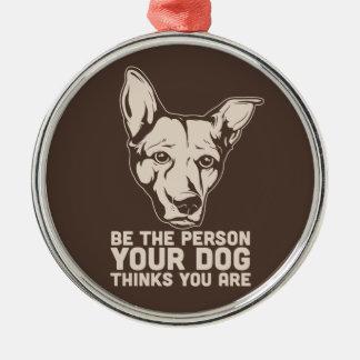 soyez la personne que votre chien pense que vous décoration de noël