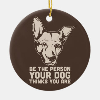 soyez la personne que votre chien pense que vous décorations de noël
