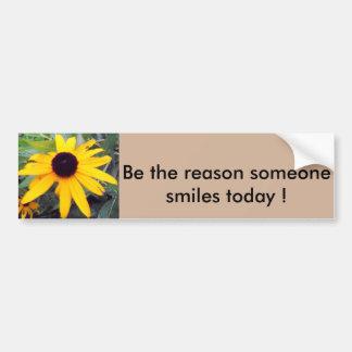 """""""Soyez la raison que quelqu'un sourit aujourd'hui"""" Autocollant De Voiture"""