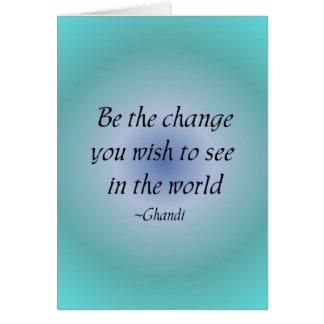 Soyez le carte pour notes de changement…