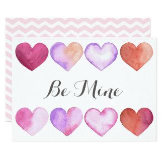 Soyez le mien - carte de Saint-Valentin Carton D'invitation 12,7 Cm X 17,78 Cm