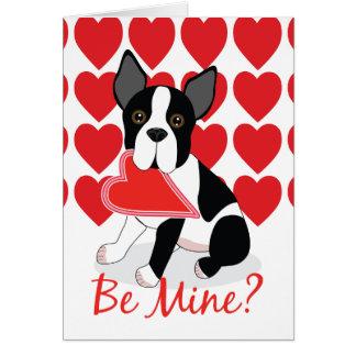 Soyez le mien ? Carte de Saint-Valentin de Boston