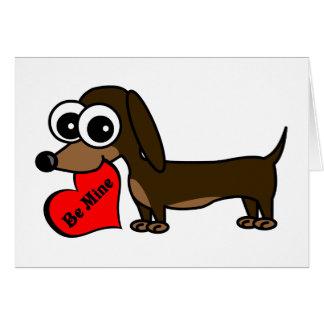 Soyez le mien carte mignonne de Saint-Valentin de