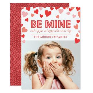 Soyez le mien - carte photo de Saint-Valentin