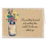 Soyez ma demoiselle d'honneur - pot et fleurs sauv cartes