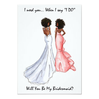 Soyez mon Afro-américain de carte de demoiselle