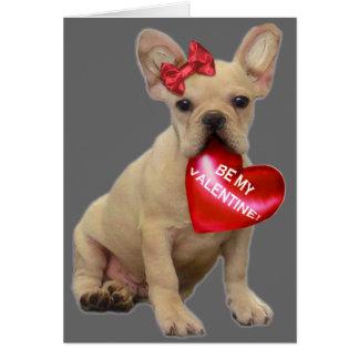 Soyez mon bouledogue français de Valentine Carte De Vœux