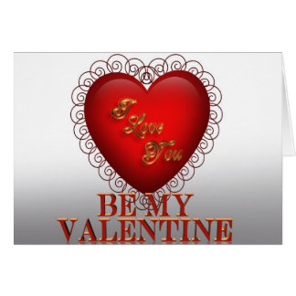 Soyez mon coeur rouge 3D de Valentine Carte De Vœux