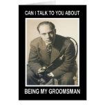 Soyez mon Groomsman pour le salaire - DRÔLE Carte De Vœux