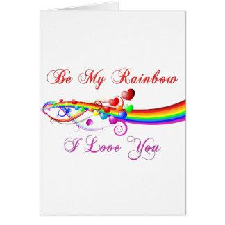 Soyez mon homosexuel Valentine d'arc-en-ciel Carte De Vœux