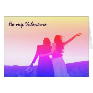 Soyez mon Valentine (lesbien/bisexuel) Carte De Vœux