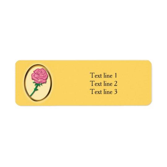 Soyez notre partie élégante de jaune de rose de étiquette d'adresse retour