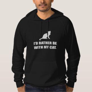 Soyez plutôt avec mon chat pull à capuche