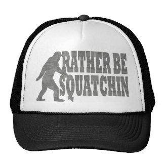 Soyez plutôt squatchin, camouflage de noir casquettes