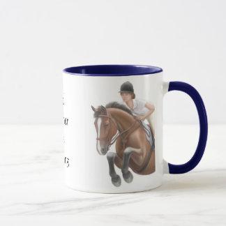 Soyez plutôt tasse de cheval d'équitation
