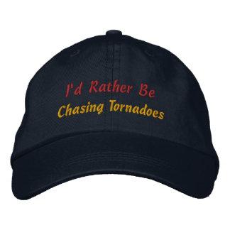 Soyez plutôt tempête chassant l'observateur de tem casquettes brodées