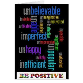 Soyez positif carte de vœux
