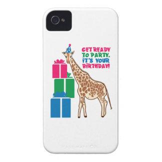 Soyez prêt pour party il est votre anniversaire étui iPhone 4