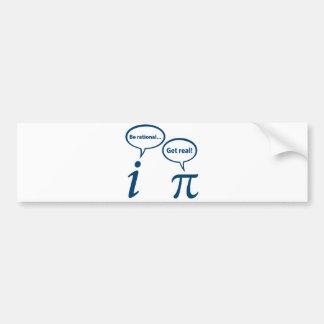 Soyez rationnel obtiennent les vraies maths imagin autocollant de voiture
