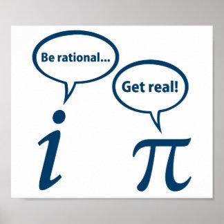 Soyez rationnel obtiennent les vraies maths posters