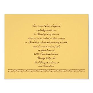 Soyez reconnaissant pour le végétarien de carton d'invitation 10,79 cm x 13,97 cm