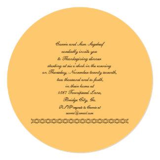 Soyez reconnaissant pour le végétarien de carton d'invitation  13,33 cm