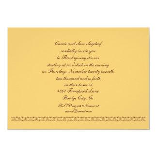 Soyez reconnaissant pour le végétarien de carton d'invitation  11,43 cm x 15,87 cm