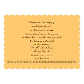 Soyez reconnaissant pour le végétarien de carton d'invitation  12,7 cm x 17,78 cm