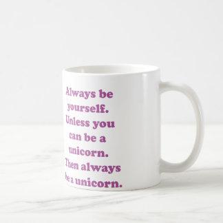 Soyez toujours vous-même licorne mug